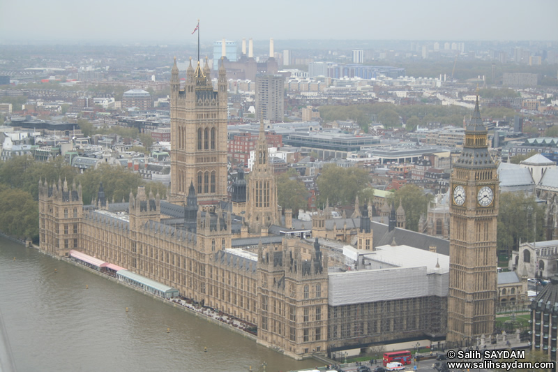 House of Parliament and Big Ben Photo Gallery 02 (From London Eye) (London, England, United Kingdom)