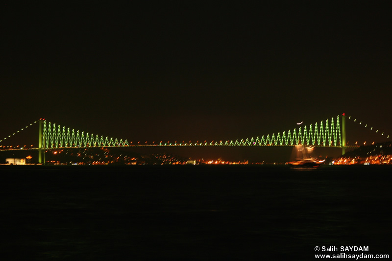 Bosphorus Bridge Photo Gallery 4 (Night) (Istanbul)