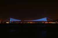 Bosphorus Bridge Photo Gallery 5 (Night) (Istanbul)