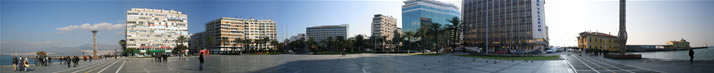 Panorama of Square of Republic Alsancak (Izmir)