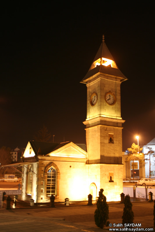 Clock Tower (At Night) Photo Gallery (Kayseri)