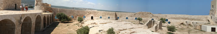 Panorama of Interior Castle (Korykos, Maiden's Castle) 3 (Mersin, Erdemli, Maiden's Castle)