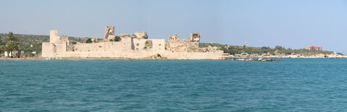 Panorama of Outer Castle (Korykos, Maiden's Castle) 1 (Mersin, Erdemli, Maiden's Castle)