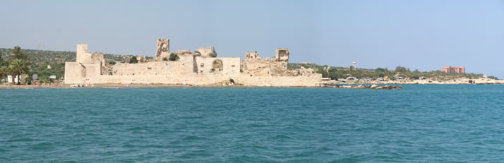 Panorama of Outer Castle (Korykos, Maiden's Castle) 2 (Mersin, Erdemli, Maiden's Castle)