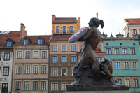 Old Town Photo Gallery 9 (Warsaw Mermaid's Statue) (Warsaw, Poland)