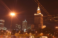 Palace of Culture and Science (Palac Kultury i Nauki, PKiN) Photo Gallery 6 (At Night) (Warsaw, Poland)