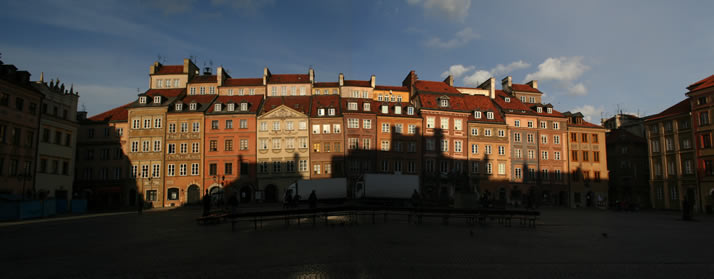 Panorama of Old Town Market Place 3 (Old Town, Warsaw, Poland)
