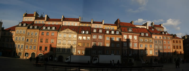 Panorama of Old Town Market Place 4 (Old Town, Warsaw, Poland)