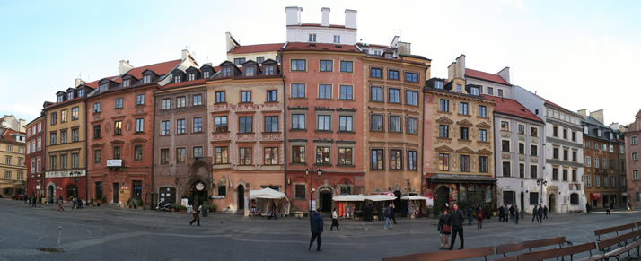 Panorama of Old Town Market Place 6 (Old Town, Warsaw, Poland)