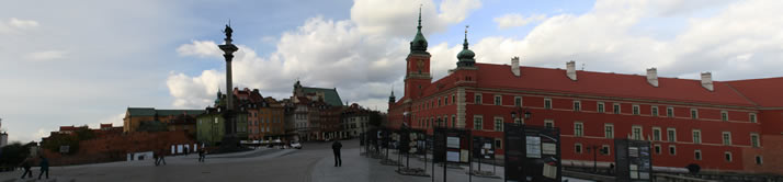 Panorama of Castle Square 4 (Old Town, Warsaw, Poland)