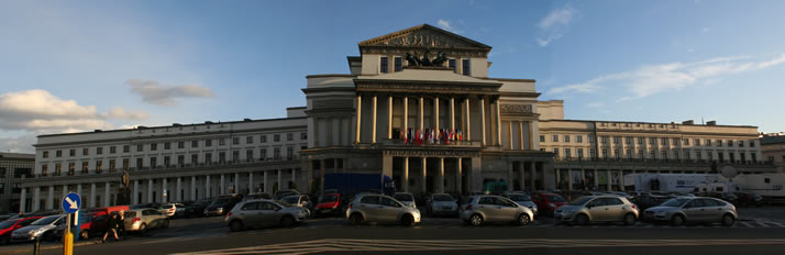 Panorama of Grand Theatre - National Opera (Teatr Wielki�Opera Narodowa) 2 (Warsaw, Poland)
